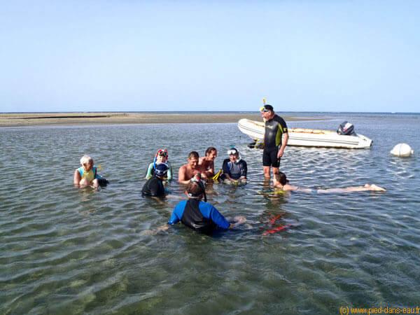 Stage en Mer avec les cours de natation Le Pied dans L'eau